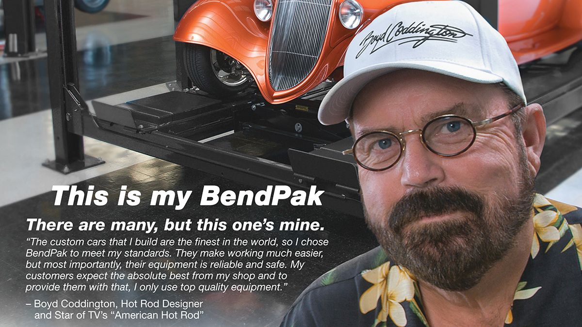 Boyd Coddington BendPak Four-Post Lift