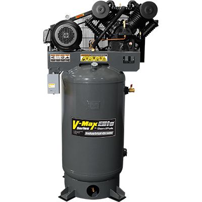 VMX-10120V-603 V-Max Elite Air Compressor / 10 HP / 454 L (120 gal) Vertical Tank / 208-230V, 60 HZ 3-Phase
