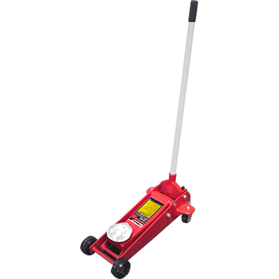 RFJ-3T 3-Ton (2.7-mt.) Floor Jack / Racing Style / Plunger-U-Joint