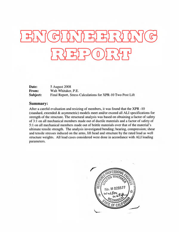 Engineering Report - Page 1